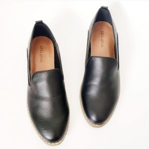 Indigo Rd. Black Vegan Pu Leather Loafer Flats 6